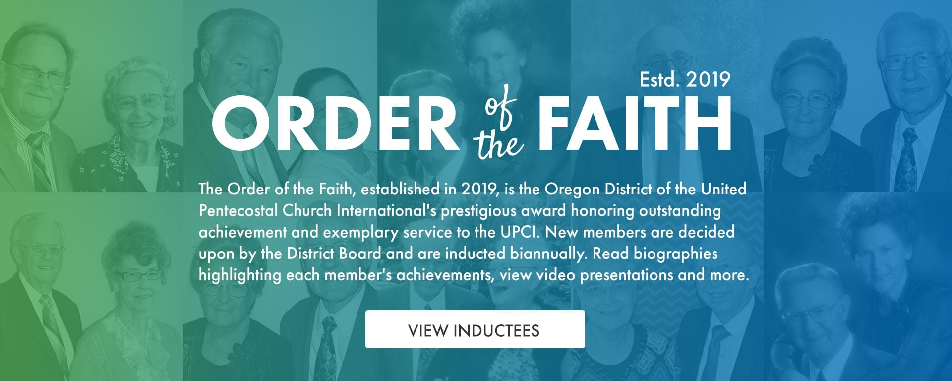 Order of the Faith Inductees